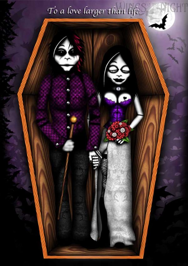 NIGHT MOTH Gothic Wedding Card - Love Larger than Life